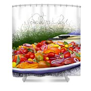 Picnic Fresh Salad Shower Curtain