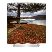 Picnic On The Lake Shower Curtain