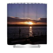 Picnic Sunset Vancouver Island Shower Curtain
