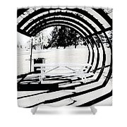 Picnic Table And Gazebo Shower Curtain