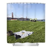 Picnicking At Golden Gate Park Shower Curtain