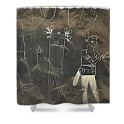 Pictograph 3 Shower Curtain