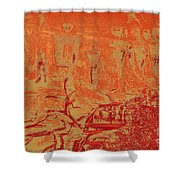 Pictographs Shower Curtain