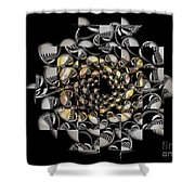Pictorial Confusion And Diffusion Shower Curtain by Elizabeth McTaggart