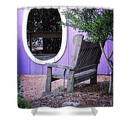 Picture Perfect Garden Bench Shower Curtain