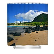 Picture Perfect Haena Beach Shower Curtain