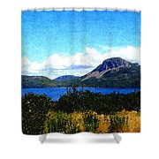 Picture Perfect In Painterly Style Shower Curtain