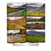 Autumn Picture Window Of The Lake District Shower Curtain