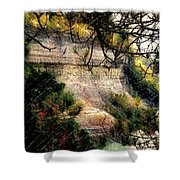 Pictured Rocks In Pastel Shower Curtain