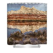 Picturesque Blue Canyon Formations Shower Curtain