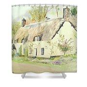 Picturesque Dunster Cottage Shower Curtain