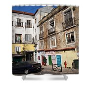 Picturesque Houses In Lisbon Shower Curtain