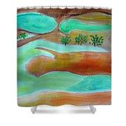 Picturesque Landscape Shower Curtain