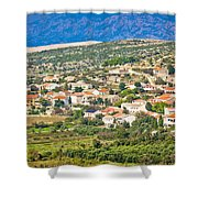 Picturesque Mediterranean Island Village Of Kolan Shower Curtain
