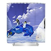 Piece Of Ice Shower Curtain