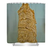 Pieced Sculpture From Perge In Antalya Archeological Museum-turkey Shower Curtain