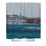 Piedras Blancas Lighthouse A2155 Shower Curtain