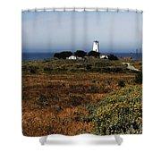 Piedras Blancas Lighthouse Shower Curtain