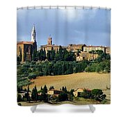 Pienza A Hill Town In Tuscany Shower Curtain