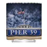 Pier 39 Shower Curtain by Dave Bowman