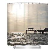Pier 60  Near Sunset Shower Curtain