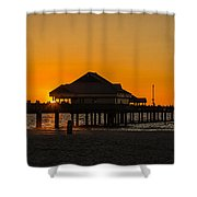Pier 60 Sunset Shower Curtain