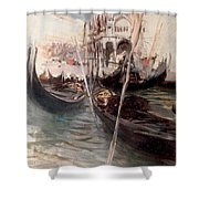 Pier And Saint Marc In Venice Shower Curtain