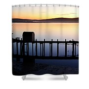 Pier At Bodega Bay California Shower Curtain