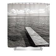 Pier At Lake Ohrid Shower Curtain