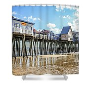 Pier At Low Tide Shower Curtain
