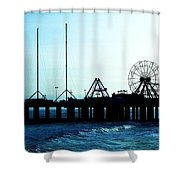 Pier Atlantic City Shower Curtain