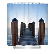 Pier By Sea Shower Curtain