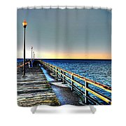 Pier - Chesapeake Bay Bridge #1 Shower Curtain