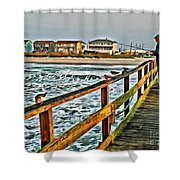Pier Fishing 2 Shower Curtain