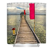 Pier Flags Shower Curtain
