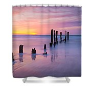 Pier Into The Past 16x9 Shower Curtain