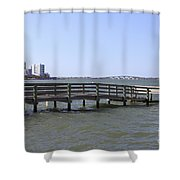 Pier North Of Sarasota Shower Curtain
