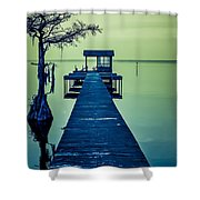 Pier On The Lake Shower Curtain