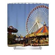 Pier Park Shower Curtain