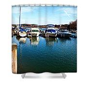 Pier Pressure - Lake Norman Shower Curtain