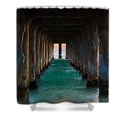 Pier Pylons Shower Curtain