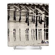 Pier Reflections Shower Curtain