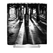 Pier Shadows Shower Curtain