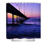 Pier Sunset Ocean Beach Shower Curtain