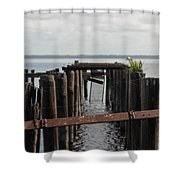 Pier To Nowhere Shower Curtain