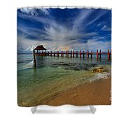 Pier To Paradise Shower Curtain