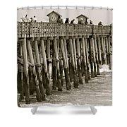 Pier View Shower Curtain