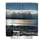 Piercing Cold Rays Upon The Waters Winter 2013 Shower Curtain