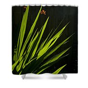 Piercing Green Shower Curtain