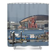 Pierhead Building In Cardiff Bay Shower Curtain